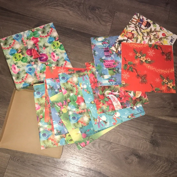 Rare 50's Christmas Wrapping Paper by Vintage